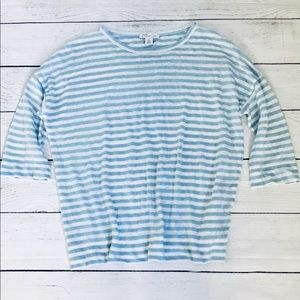 Nordstrom Signature striped linen T-shirt xs